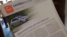 Das 32. cambio-Journal ist da! In der aktuellen Ausgabe fragen wir, ob eine Kaufprämie für Elektroautos ein revolutionäres Mobilitätskonzept ist und welche Aufgaben vor den Städteplanern von morgen liegen. Wir werfen ein Blick in den Kundenservice Köln, auf das kommende CarSharing-Gesetz und stellen die Änderungen im Campus-Tarif vor. Viel Spaß beim Lesen!