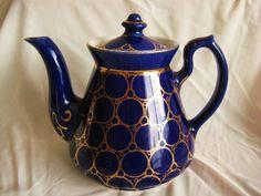 6 Cup Hall's Decorative Tea Pot #HALLS