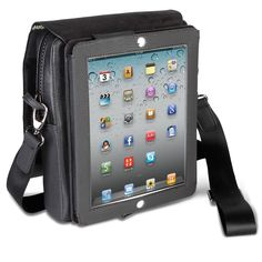 Source: Hammacher.com  The iPad Stand Satchel - Hammacher Schlemmer. This is a website where you can buy a case to carry around your iPad, which is relevant to digital entertainment because it allows for streaming of videos, music, shows, etc.