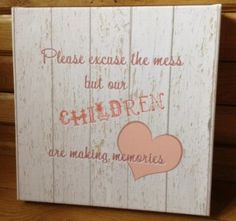 Children Making Mess & Memories Canvas