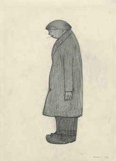 L.S. Lowry  /  Gentleman contemplating