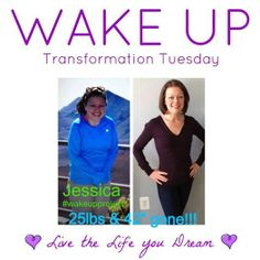 Check out, Jessica Brown-Boyer! Another coach for The WAKE UP Project, this lovely lady was amazed to discover that she absolutely COULD get her high school body back--even after a baby! #wakeupproject #healthyliving #wealthyliving #momsrock www.facebook.com/wakeuplivethelifeyoudream Lexie226@aol.com
