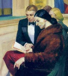 "Painting by Edward Hopper - ""First Row Orchestra"" (detail), 1951 American Realism, American Artists, Manet, Hooper Edward, Toulouse, Edward Hopper Paintings, Statues, Ashcan School, Social Realism"