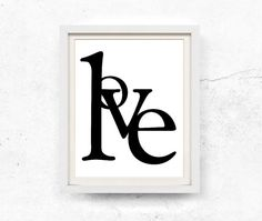 Love typography. Modern black and white wall art. This listing contains HIGH RESOLUTION 8x10 and 11x14 digital files for INSTANT DOWNLOAD.