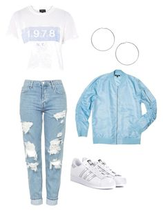 """""""OUTFIT IDEA 6"""" by beautymeb ❤ liked on Polyvore featuring Topshop, adidas Originals and Miss Selfridge"""