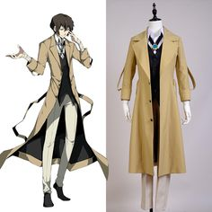 ==> [Free Shipping] Buy Best Sale! Bungo Stray Dogs Osamu Dazai Coat Pants Full Set Cosplay Costume Halloween Party Suit Boys Males Online with LOWEST Price | 32717552213
