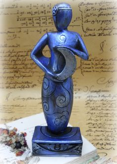 Blue Moon Goddess Statue