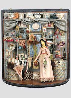 Miniature shop scene