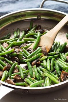 Healthy Green Beans, Sauteed Green Beans, Low Carb Side Dishes, Side Dish Recipes, Main Dishes, 21 Day Fix, Sin Gluten, Gluten Free, Smoothies