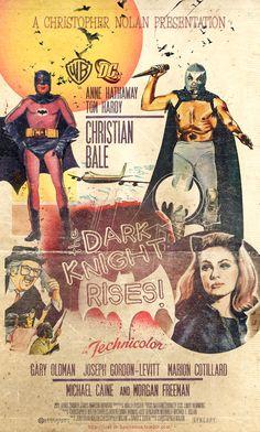 The Dark Knight Rises, retro poster