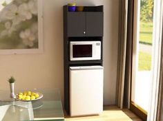 Mini fridge and microwave stand furniture over the refrigerator storage cabinet for by dorm st . Dorm Room Food, College Dorm Rooms, College Girls, Guy Dorm Rooms, College Life, Locking Storage Cabinet, Kitchen Cabinet Storage, Kitchen Pantry, Microwave Cabinet