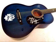 HANK WILLIAMS JR. Autographed Signed Acoustic Guitar