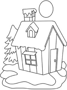 Coloring Pages Winter Scenery Pictures - - Yahoo Image Search Results Coloring Pages Winter, Christmas Coloring Pages, Colouring Pages, Coloring Books, Art Drawings Sketches Simple, Art Drawings For Kids, Drawing For Kids, Art For Kids, Beginner Quilt Patterns