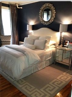 Sophisticated & Uncluttered #GuestRoom #interiordesign #homedecor