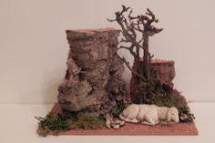 Italian Nativity Set Accessory with Sheep Presepio Manger Scene Diorama Pesebre | eBay