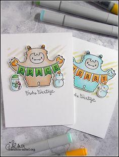 [Werkeltisch] Weihnachtskarte 2018 – Me and my Yeti Hero Arts, Marker, Cardmaking, Creative, Peace, Stamping, Holiday, Xmas Cards, Christmas