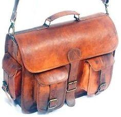 Genuine Leather Bag Messenger Bag Shoulder Laptop Bag Vintage Style  Briefcase 07 1dd6ce9c7dcda