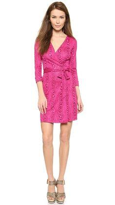 30% off Diane von Furstenberg - Mini Silk Jersey Wrap Dress New Julian Two Pink - $278.60