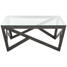 Safavieh Fox Dark Grey Square Coffee Table