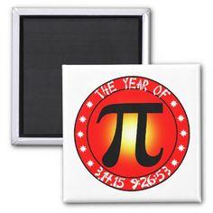 #Pi2015 - Year of Pi 3/14/15 9:26:53 Refrigerator  Magnet  by #YearOfThe #Pi #PiDay #ultimatePiDay