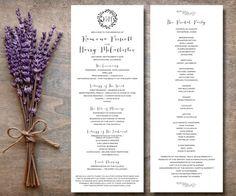 Catholic Wedding Program Printable Rustic by SimplyFetchingPaper