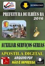 Apostila Digital Concurso Prefeitura de Ilheus BA Auxiliar de Servicos Gerais 2016