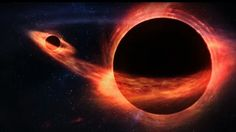One black hole eating the other black hole.
