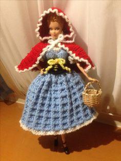 Barbie red riding hood crochet