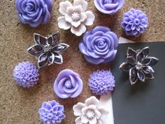 If I had a tack board... https://www.etsy.com/listing/150198354/purple-thumbtacks-decorative-push-pins