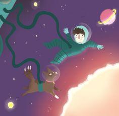 Space boy Alexandra Turner-Piper Space Boy, Dog, Illustration, Anime, Diy Dog, Doggies, Cartoon Movies, Illustrations, Anime Music