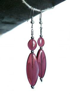 #ArtPassionBijoux by Sara, #italian #handmade #jewelry inspired by #art - Pink glass #earrings / #orecchini vetro sfumato rosa