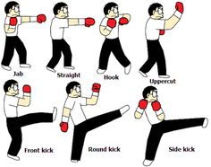 kickboxing basic moves