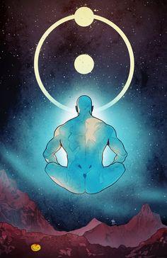 Dr. Manhattan - #watchmen #drmanhattan #jonathanosterman #jon #superhero #comics #artwork #drawing #drawer #artist #creation #creative #artbook #heroes #inking #pencils #sketch #characters #sketching #comicbook #dccomics #ldr #alanmoore #osterman #mars #Space #planetmars #redplanet