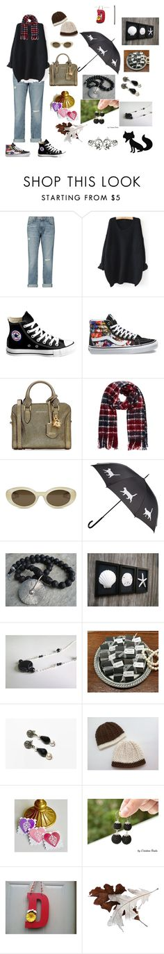 """H.T"" by viyoli ❤ liked on Polyvore featuring Current/Elliott, WithChic, Converse, Vans, Alexander McQueen and Elizabeth and James"