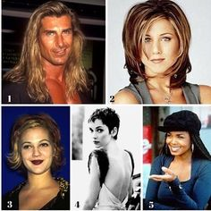 Pick one!! Ok so your way back in the 90s now which one hairstyle would you pick 🤔 We pick #1 😂😍@mr.fabio_lanzoni #fabio #90s #janetjackson #rachelhair #friends #drewbarrymore #pixiehairpixiehaicut