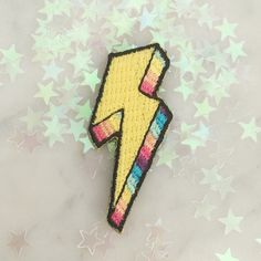 'Tiny Lightning Bolt' Patch by Wildflower & Co.