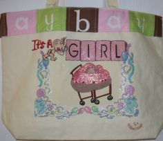 It's a Girl Diaper Tote by KidBabies on Etsy, $45.00