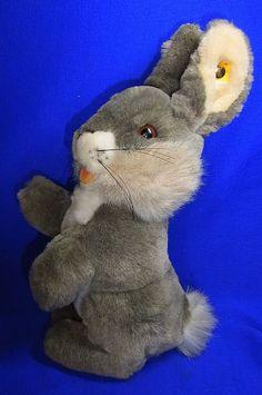 Original Modern Stuffed Animal Steiff Toy Rabbit with Button #^B41