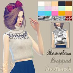 Sleeveless Cropped TurtleneckDOWNLOAD: google… – JSBoutique | Sims 4 Updates -♦- Sims Finds & Sims Must Haves -♦- Free Sims Downloads
