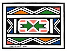 Esther Mahlangu African Design, African Art, Africa Tribes, Art Terms, Sacred Geometry, House Painting, Collage Art, Pattern Design, Cool Art