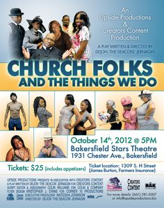 Church Folks and The Things We Do Play Poster Design