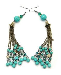 Tassels Drop Earrings in Bohemian Style