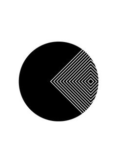 Geometric Black & White Circle by SherryWither