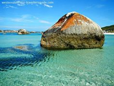 At Greens Pool: Interesting domed granite boulders are found all along the south coast of Western Australia --- Click the image to explore Greens Pool in the William Bay National Park, one of the most beautiful places in Western Australia. Perth Western Australia, Visit Australia, Australia Travel, Coast Australia, Tasmania, Learn To Surf, Spring Nature, Roadtrip, Holiday Photos