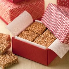 Crunchy Sesame Candy - I love sesame seeds - going to have to try this!