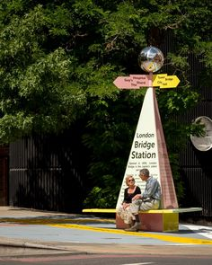 """Charles Holland Architects has designed a pyramidal wayfinding post called The Tooley Street Triangle as a """"symbol of celebration"""" for the London Festival of Architecture."""