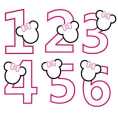 Free banner template you can use these letters to spell out items similar to minnie mouse birthday number applique embroidered shirt girls on etsy pronofoot35fo Gallery