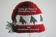 Free Crochet Pattern. trees go round close up. Certainly different. Enjoy xox