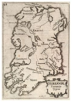 Map of Ireland from the 17th century