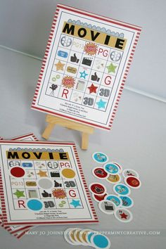 movie-night bingo game... personalize this for the specific movie? Maybe Harry Potter?